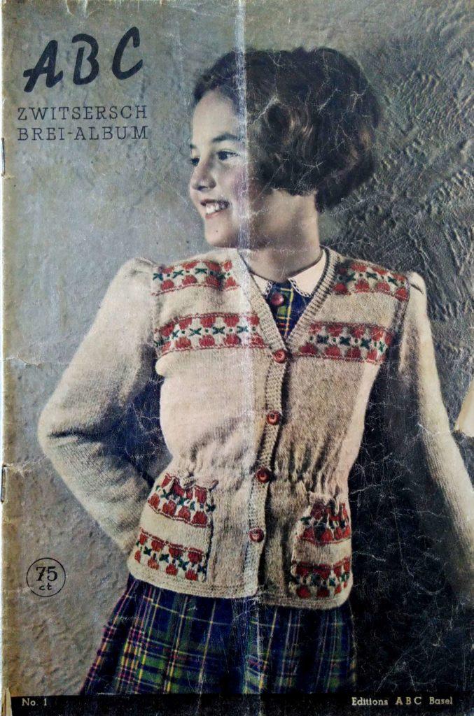 De Breistaat: ABC Zwitschersch Brei-Album, Meisjesvest, leeftijd 10 jaar - Vintage knitting