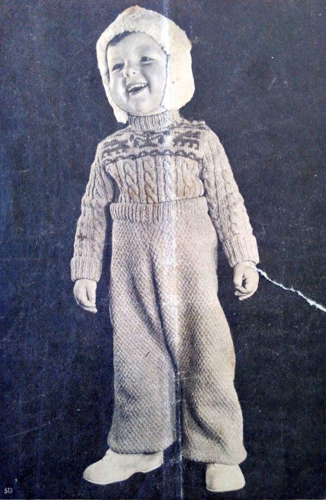 De Breistaat: ABC Zwitschersch Brei-Album, Slobpakje, Model Brenk-Braun, Basel - Vintage knitting
