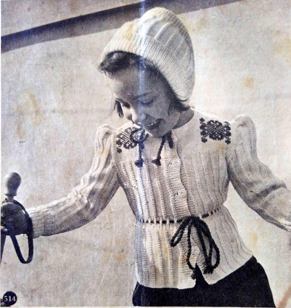 De Breistaat: ABC Zwitschersch Brei-Album, Sportjasje en mutsje, leeftijd 4-6 jaar, Model Brenk-Braun, Basel - Vintage knitting