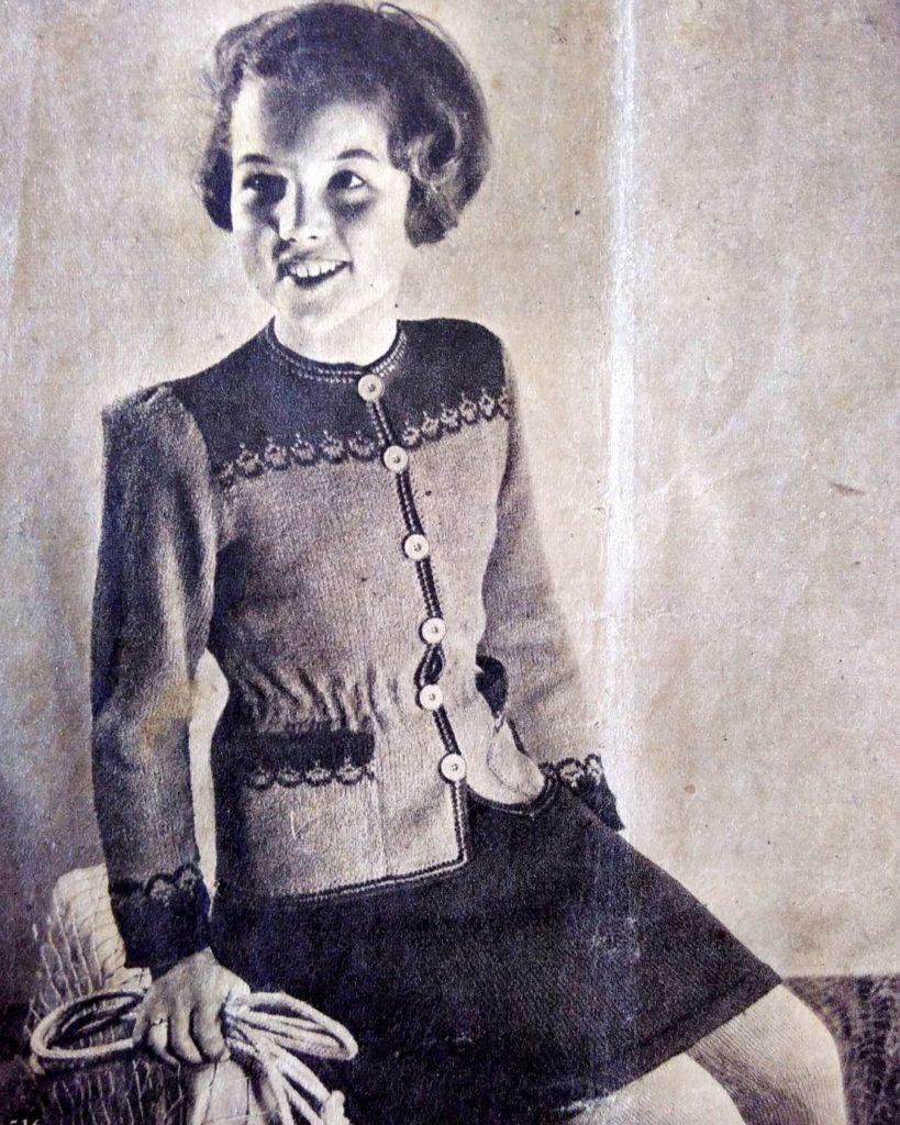 De Breistaat: ABC Zwitschersch Brei-Album, Meisjesvest, leeftijd 11-13 jaar, Model Brenk-Braun, Basel - Vintage knitting