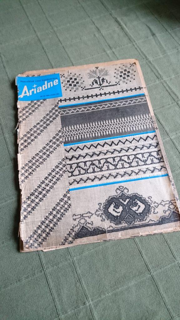 Breistaat vintage breien Ariadne Maandblad voor Handwerken februari maart 1960