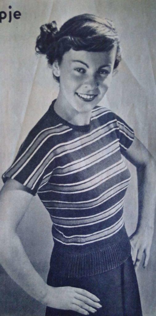Lente in de kop_14, Libelle Haken en Breien, jumper, kimono, jaren vijftig