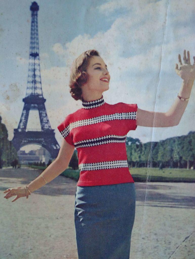 Lente in de kop_16, Eva Breit, jumper, jaren vijftig, ingebreid