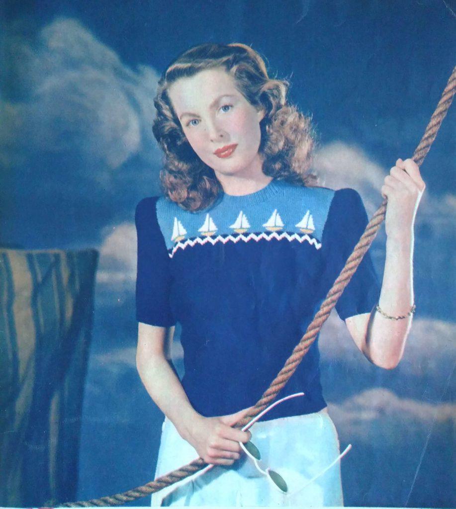 Lente in de kop_4, Margriet Breit, jaren vijftig, ingebreide jumper