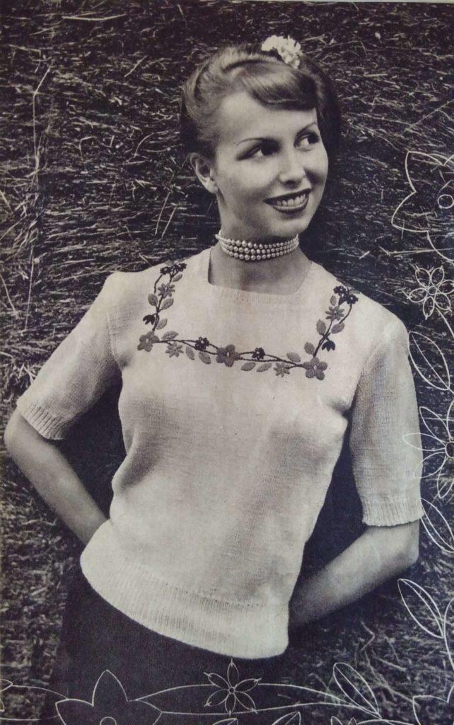 Lente in de kop_6, Margriet Breit, blouse, jaren vijftig