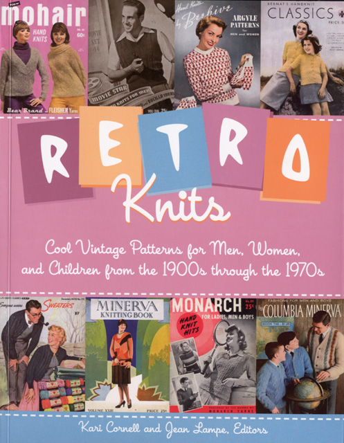 Retro Knits: Cool vintage patterns for men, women and children from the 1900s through the 1970s Kari Cornell & Jean Lampe Voyageur Press, 2008 ISBN 9780760329771