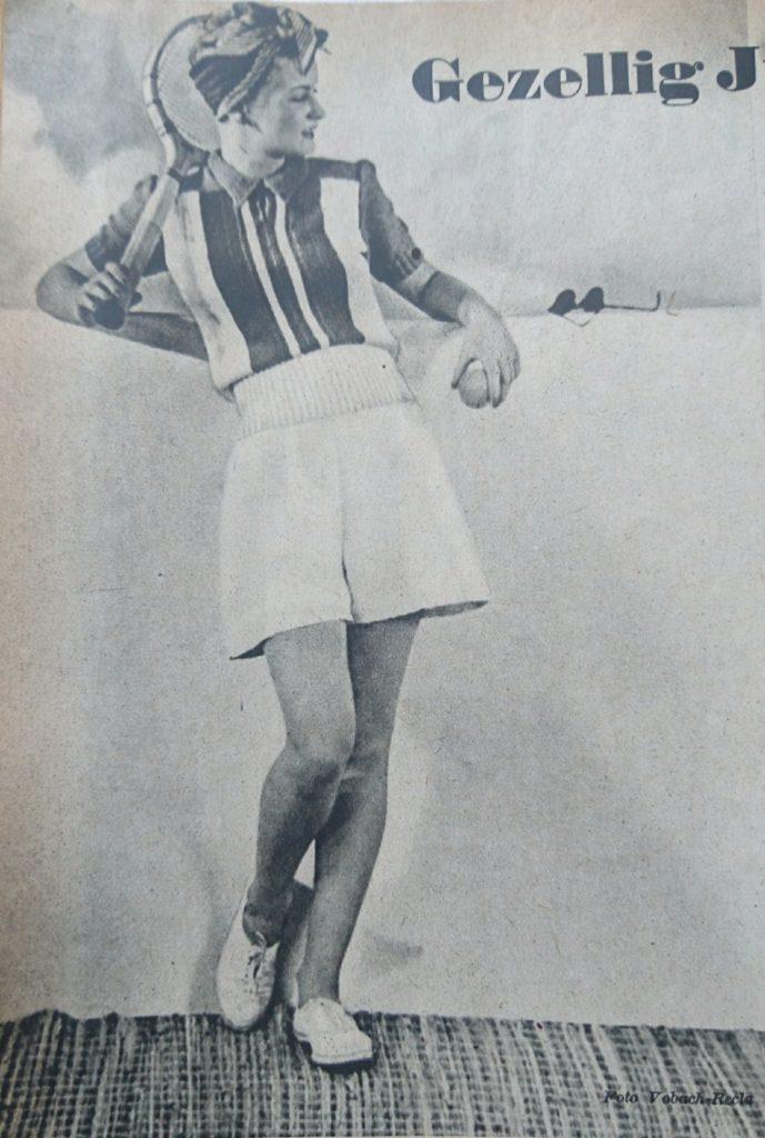 De Breistaat vintage breien tennisjumper Libelle
