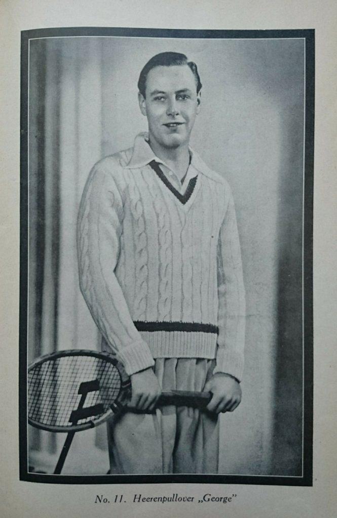 De Breistaat vintage breien tennisjumper Steek voor steek