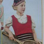 De Breistaat vintage breien tennisjumpers te kust en te keur