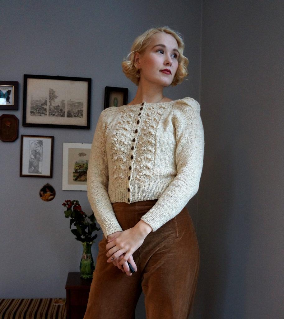 De Breistaat vintage breien Helene Arnesen FabelVintage Forest Berry Jacket