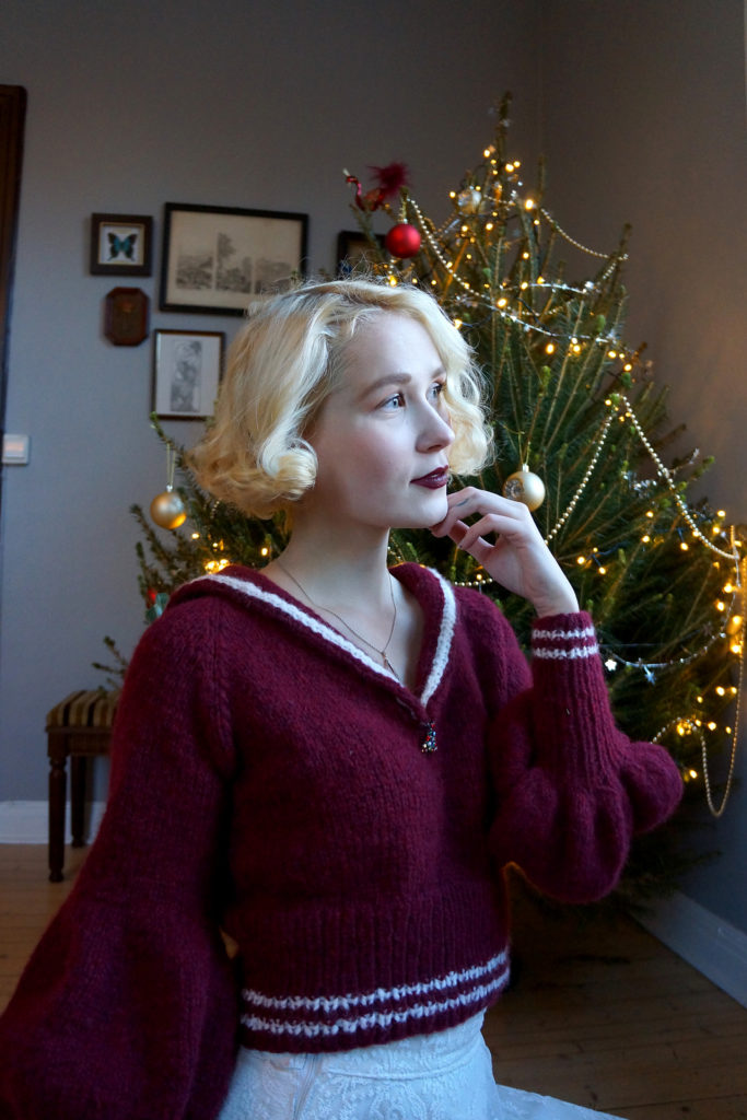 De Breistaat vintage breien Helene Arnesen FabelVintage Olive Oyl Jumper kersttrui christmas sweater
