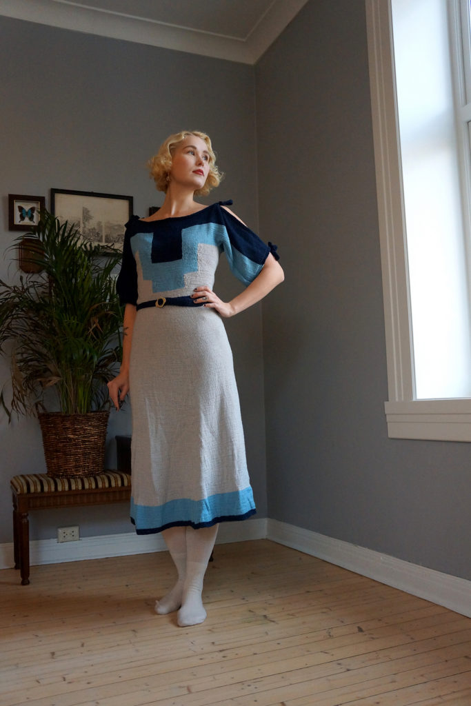 De Breistaat vintage breien Helene Arnesen FabelVintage Deco Dream Dress