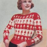 De Breistaat breien Vintage Novelty Sweater Christmas Kerstmis The Needlewoman Christmas Jumper no. 185 1937/1938 kersttruien