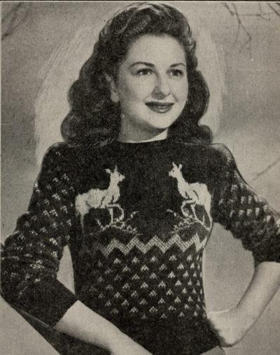 De Breistaat breien Vintage Novelty Sweater Christmas Kerstmis The Australian Home Journal Reindeer Sports Jumper